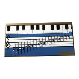 Vintage 1960s Pop Art Xylophone Wall Hanging - Scale-o-Phone from Japan