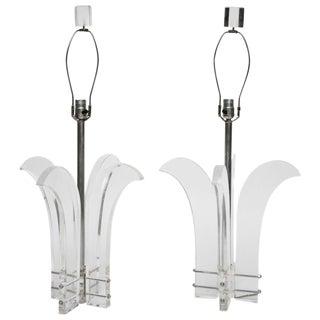 Fleur De Lis Style Table Lamps, A Pair