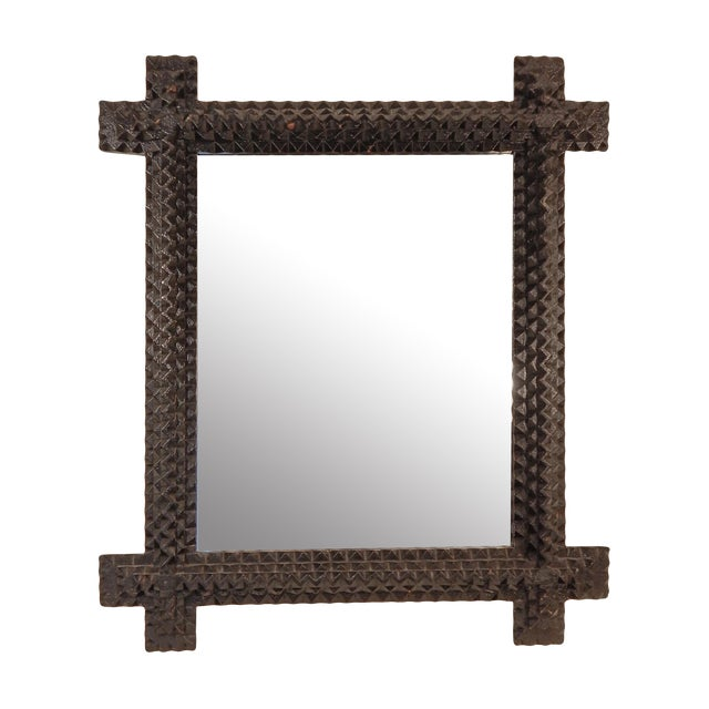 Tramp Art Mirror - Image 1 of 7