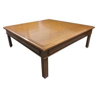 Large Solid Oak Square Coffee Table