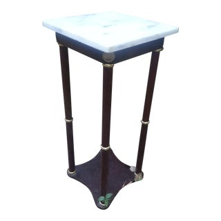 Marble & Cherry Wood Accent Table