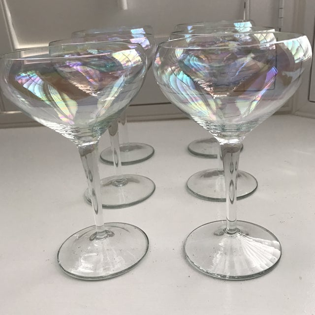 Opalescent Champagne Coupes - Set of 6 - Image 6 of 8