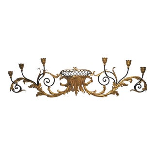 Wrought Iron & Gold Wall Candelabra