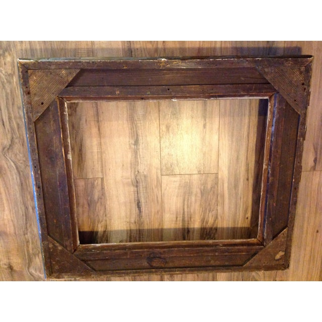 Antique Wood Hollywood Regency Large Frame Victorian - Image 6 of 11