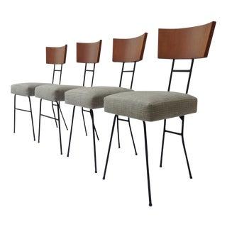 Paul McCobb Wood & Metal Chairs - Set of 4