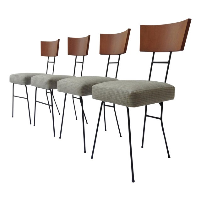 Paul McCobb Wood & Metal Chairs - Set of 4 - Image 1 of 11