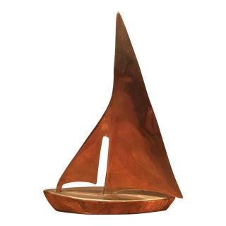 Brass Sailboat Objet