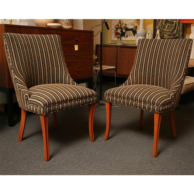 Sleek Tailored 40's Slipper Side Chairs - Image 5 of 10