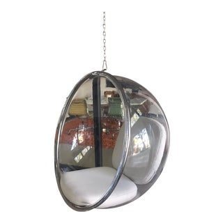 Acrylic & Chrome Hanging Bubble Chair