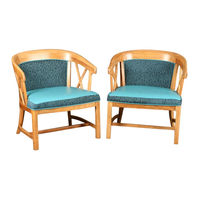 Image of Reupholstered Thomasville Club Dinette Chairs - 2