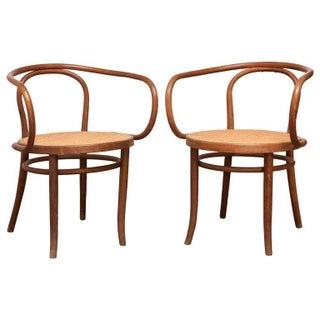 Thonet 209 Armchairs, Circa 1900 - Pair
