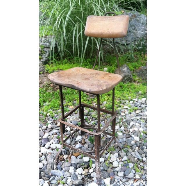 Vintage Industrial Drafting Stool Chairish