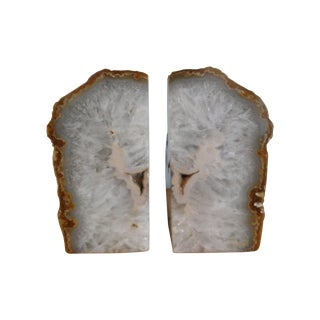 Massive Geode Bookends - a Pair