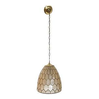 Capiz Shell & Brass Pendant Light