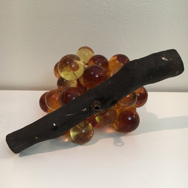 Oversized Vintage Lucite Amber Grapes - Image 5 of 7