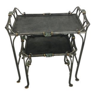 Metal Nesting Tables - A Pair