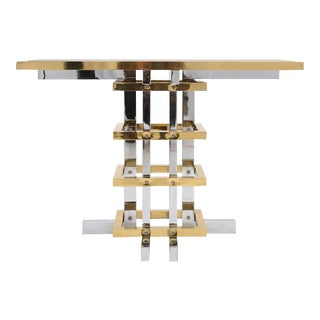 Brass and Chrome Unique Console Table