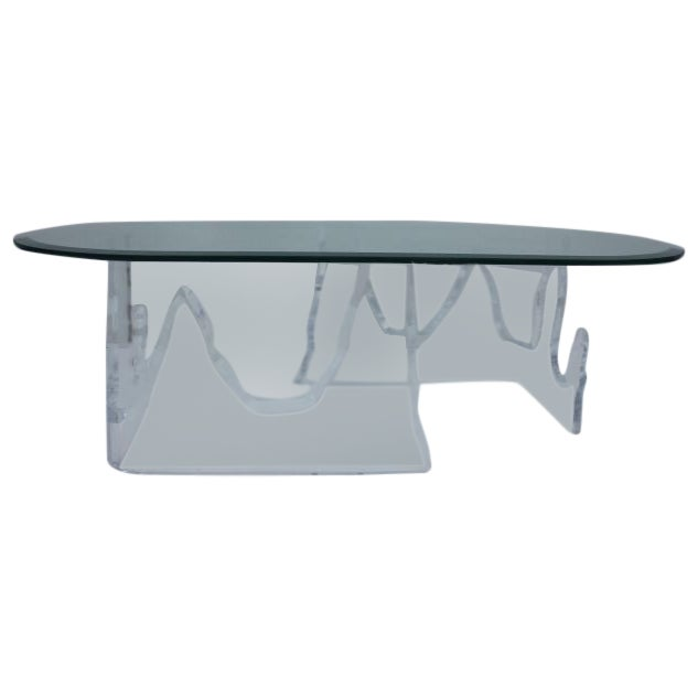 Lion in Frost Vintage Lucite Iceberg Coffee Table - Image 1 of 9