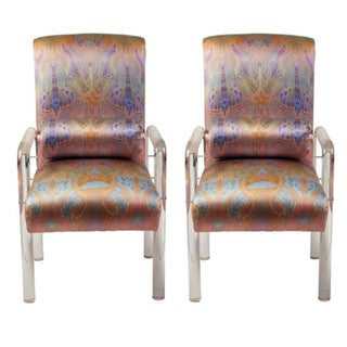 Charles Hollis Jones Lucite Armchairs - Pair