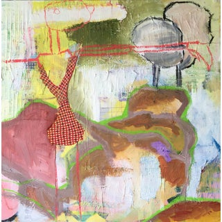 Growing Up Mixed Media Abstract Painting on Canvas