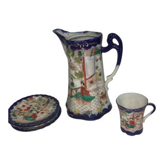 Japanese Porcelain Tea Set - Set of 5