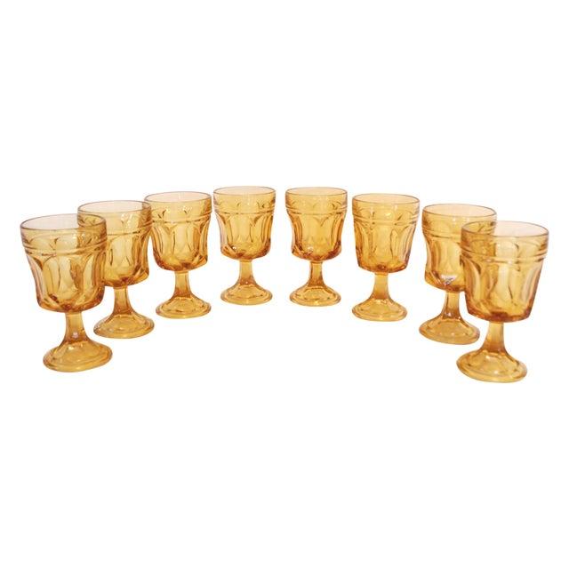 Libbey Amber Stemmed Wine Glasses - Set of 8 - Image 1 of 3