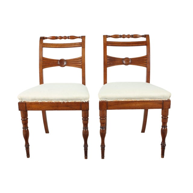 Image of English Regency-Style Hall Chairs - A Pair