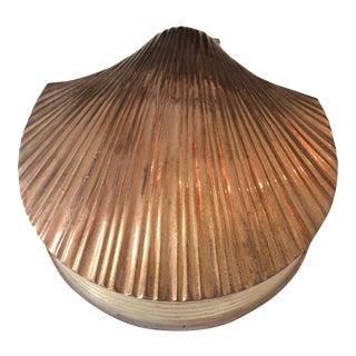 Brass Clamshell Trinket Box