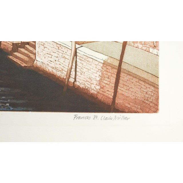 F. St. Clair Miller Venice Italy Etching - Image 4 of 5