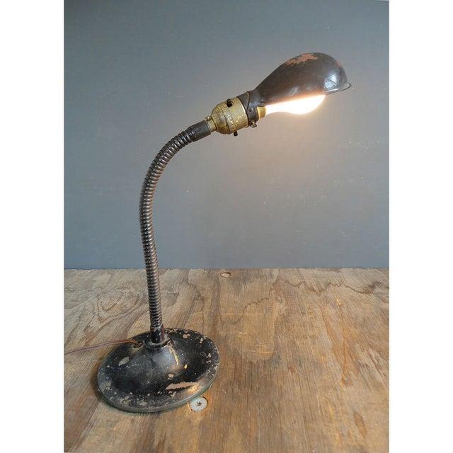 1940s Industrial Flip Up Shade Desk Lamp - Image 2 of 7