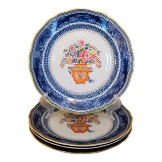 Mottahedeh Chinese Import Mandarin Bouquet Plates - Set of 4