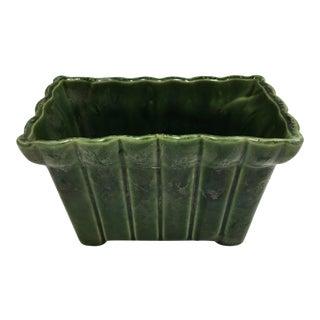 Olive Green Glazed Ceramic Planter