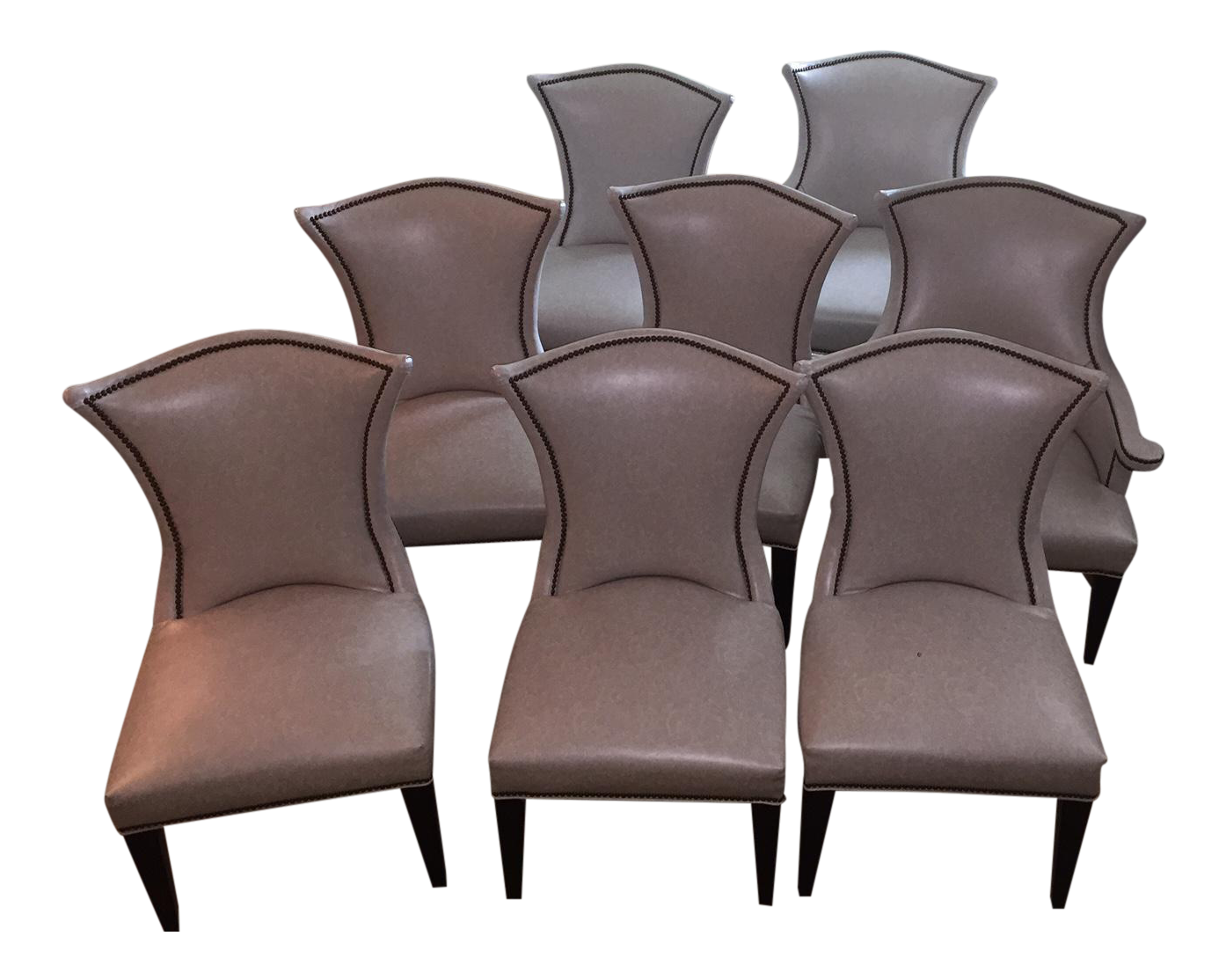 lee industries custom leather dining chairs set of 8