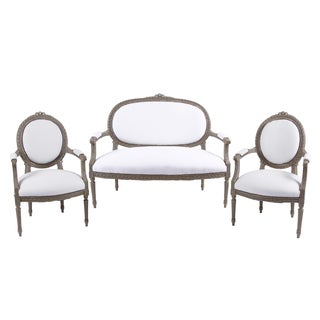 18th Century Louis XVI Settee & 2 Side Chairs