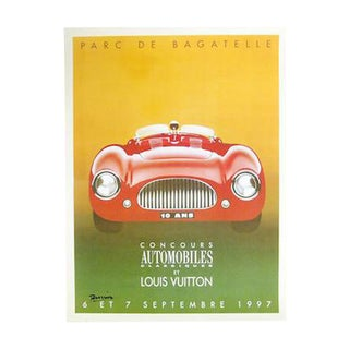 1997 Louis Vuitton Automobile Concours Bagatelle Poster