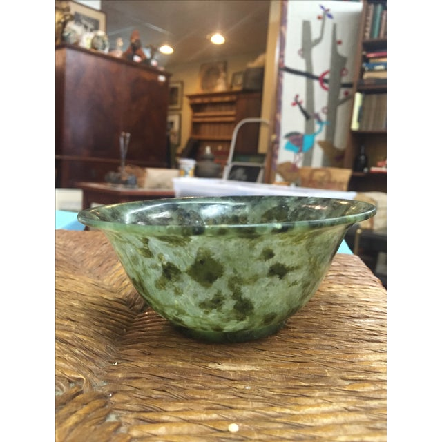 Chinese Spinach Jade Bowl - Image 2 of 7