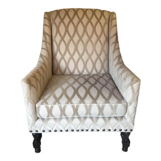 Salem Lattice Pattern Wingback Chair