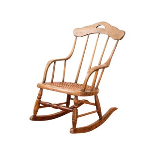 Antique Child's Bentwood Cane Rocking Chair