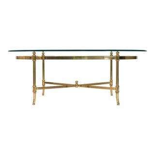 Italian Brass & Glass Coffee Table