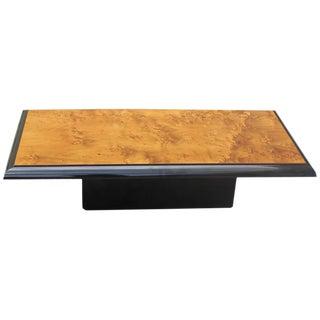 French Art Deco Burl Wood Coffee Table Circa 1940s