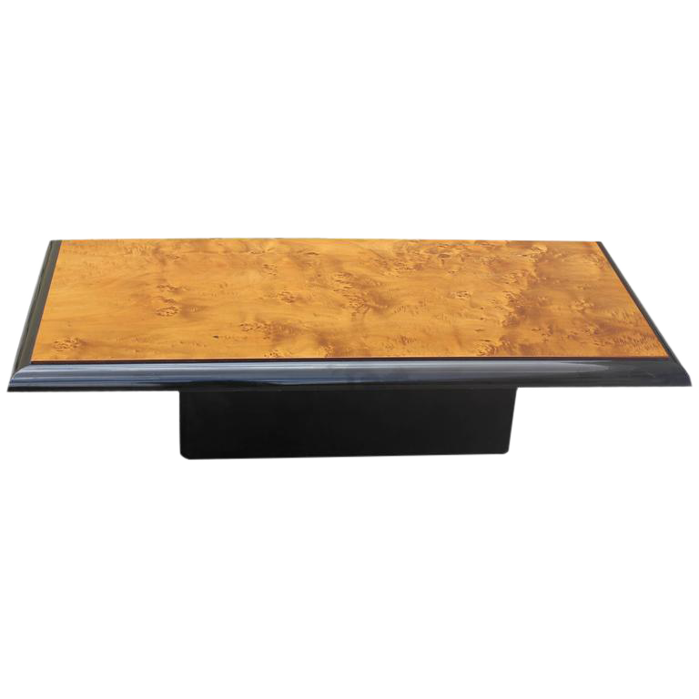 French Art Deco Burl Wood Coffee Table Circa 1940s   Image 1 Of 10