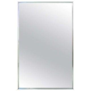 Mid Century Aluminum Frame Mirror