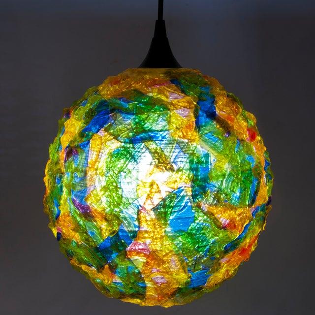 Mid-Century Spun Fiberglass Pendant Light - Image 2 of 5