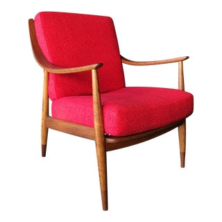 Mid Century Danish Modern Teak Lounge Chair by Peter Hvidt for France and Son