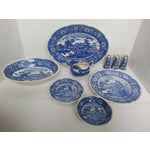 Image of Japanese Yorkville Blue Creamware Dishes