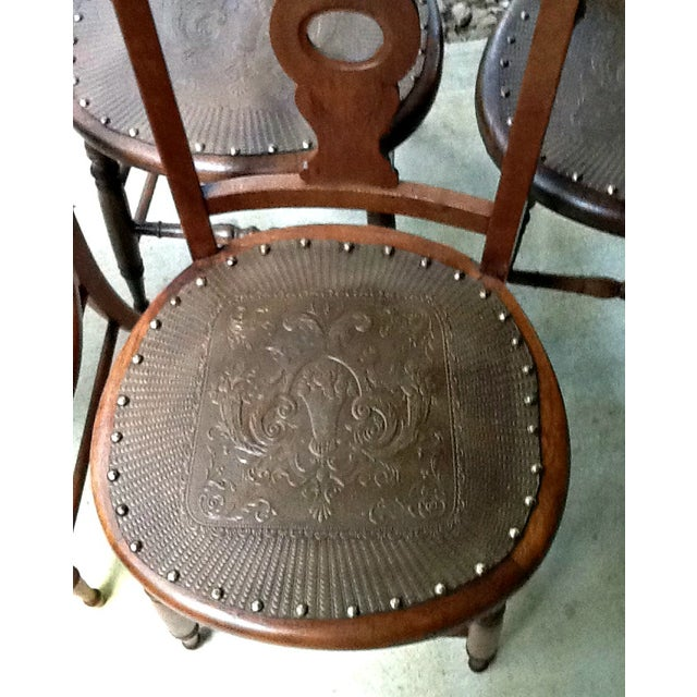 Antique Dining Chairs - Set of 4 - Image 3 of 5