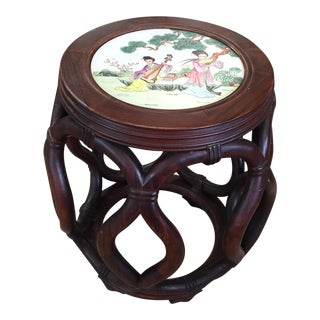 Porcelain Top Chinese Stool