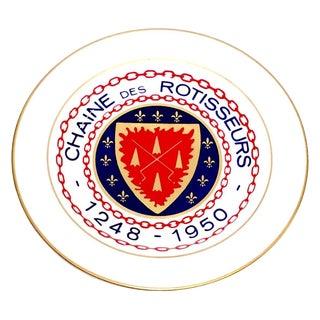 Homer Laughlin Chaine De Rotisseurs Crest Insignia Plate
