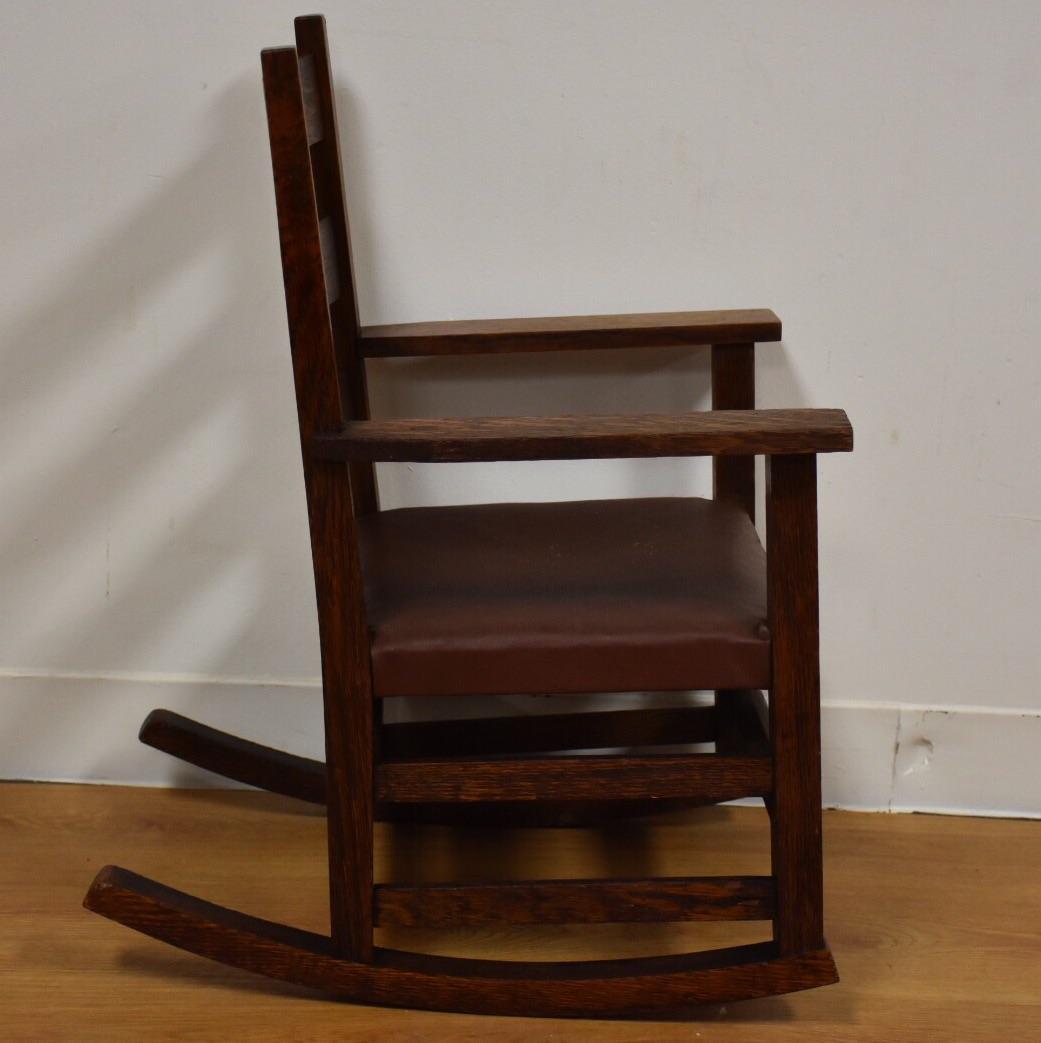 gustav stickley childu0027s rocking chair image 4