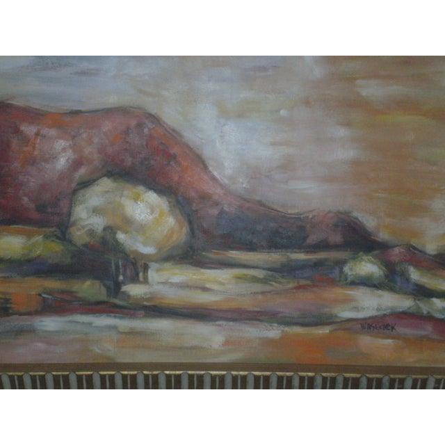 Original Vintage Oil Painting of Desert Landscape - Image 3 of 8